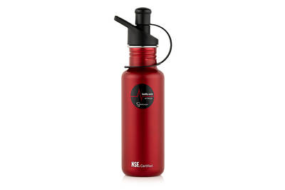 Sana stainless steel bottle red