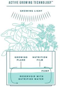 Tregren Herbie hydroponic indoor garden diagram