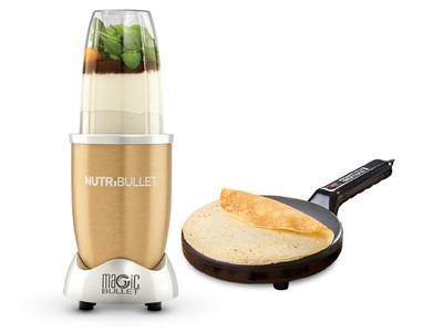 Nutribullet Gold blender + crepe maker