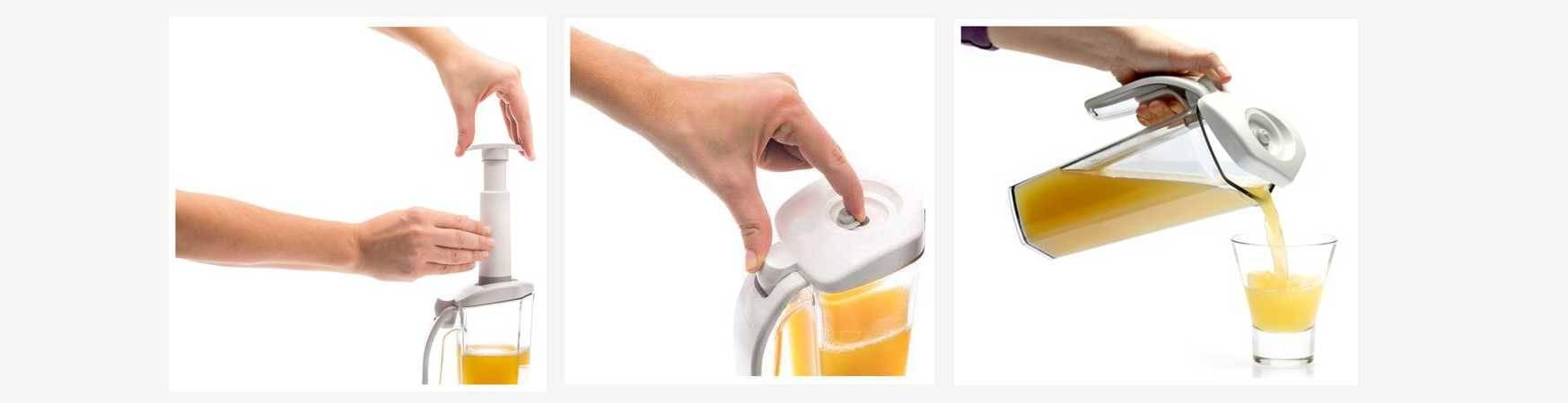 using of vacuum jug